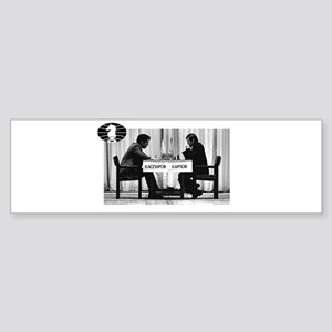 World Chess Champions Karpov Kaspar Bumper Sticker