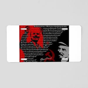 Lenin Aluminum License Plate