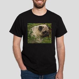 Fawn Pug with foliage T-Shirt