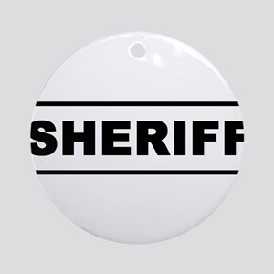 Sheriff Ornament (Round)