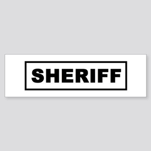 Sheriff Bumper Sticker
