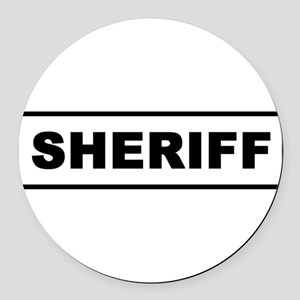Sheriff Round Car Magnet