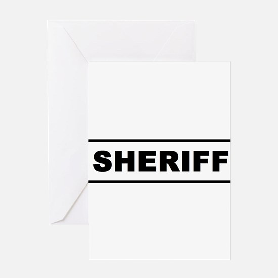 Sheriff Greeting Cards