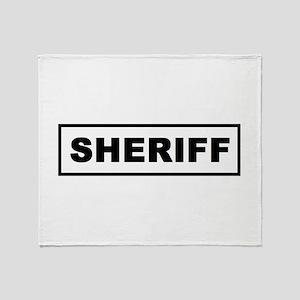 Sheriff Throw Blanket