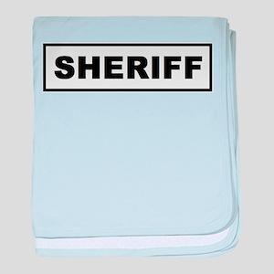 Sheriff baby blanket