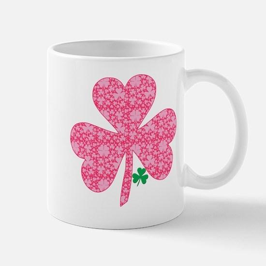Pink Shamrocks Wee Green Mug