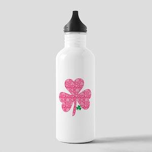 Pink Shamrocks Wee Gre Stainless Water Bottle 1.0L