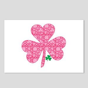 Pink Shamrocks Wee Green Postcards (Package of 8)