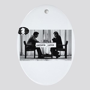 World Chess Champions Karpov Kaspa Ornament (Oval)