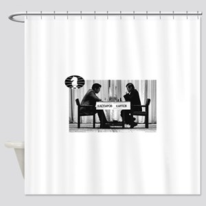 World Chess Champions Karpov Kaspar Shower Curtain
