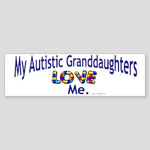 My Autistic Granddaughters Love Me Sticker (Bumper