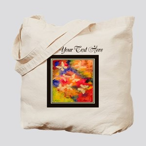 Butterfly Vestige Brown Text Tote Bag