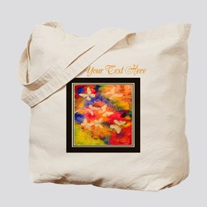 Butterfly Vestige Peach Text Tote Bag