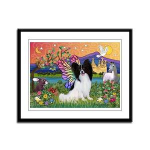 Papillon Butterfly in Fantasy Framed Panel Print