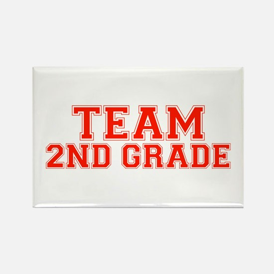 Team 2nd Grade Rectangle Magnet (100 pack)