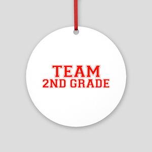 Team 2nd Grade Ornament (Round)