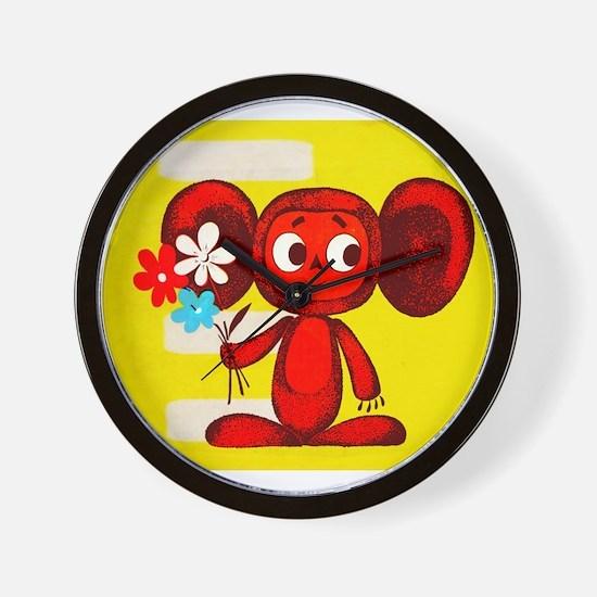 Cheburashka Soviet Animation Soyuzmultf Wall Clock