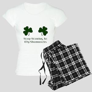 Stop Staring At My Shamrock Women's Light Pajamas