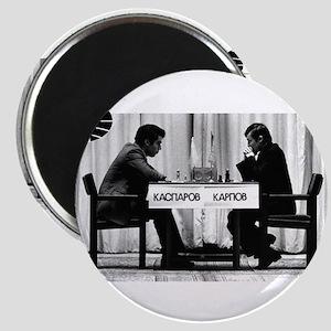 World Chess Champions Karpov Kasparov Mast Magnets