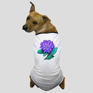 PURPLE DAHLIA Dog T-Shirt