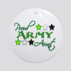 Army Star Aunt Ornament (Round)