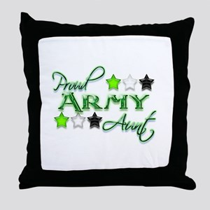 Army Star Aunt Throw Pillow