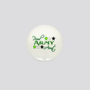Army Star Aunt Mini Button