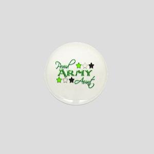 Army Star Aunt Mini Button