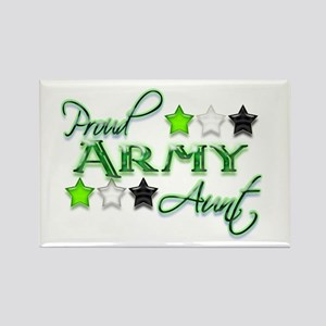 Army Star Aunt Rectangle Magnet