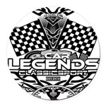 muscle car legends 2018 Round Car Magnet