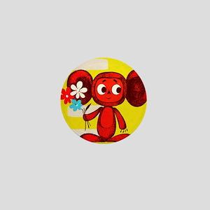 Cheburashka Soviet Animation Soyuzmult Mini Button