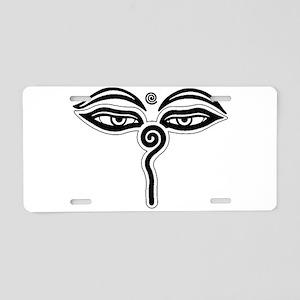 Buddha eyes tibet rebirth S Aluminum License Plate