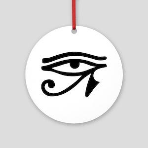 Eye of Horus ancient Egyptian sym Ornament (Round)