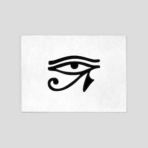 Eye of Horus ancient Egyptian symbo 5'x7'Area Rug