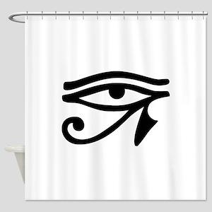 Eye of Horus ancient Egyptian symbo Shower Curtain