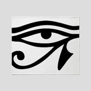 Eye of Horus ancient Egyptian symbol Throw Blanket