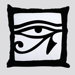 Eye of Horus ancient Egyptian symbol Throw Pillow
