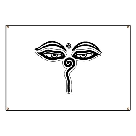 Buddha Eyes Tibet Rebirth Symbol Buddhist R Banner By Admincp78187552