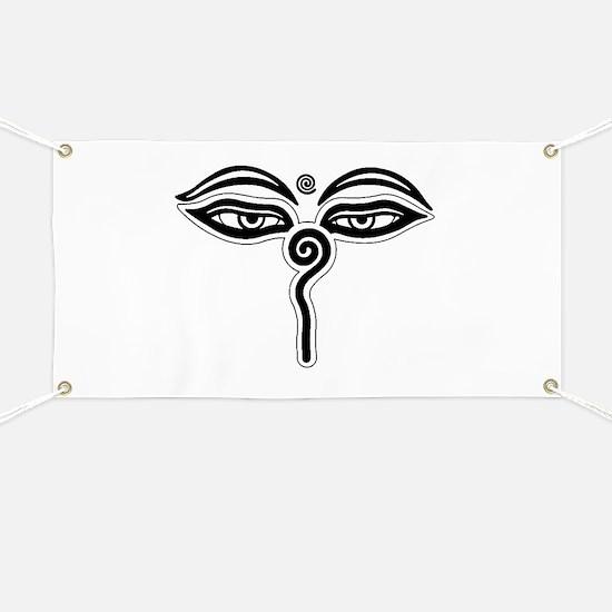Buddha eyes tibet rebirth Symbol Buddhist R Banner