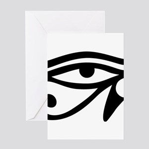Eye of Horus ancient Egyptian symbo Greeting Cards