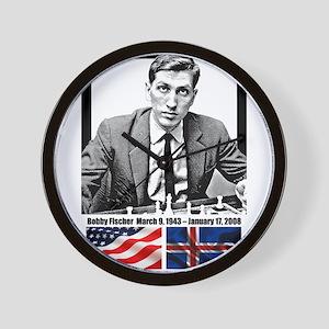 Robert Bobby Fischer American Chess gra Wall Clock
