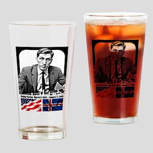 Robert Bobby Fischer American Chess Drinking Glass