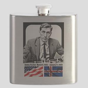 Robert Bobby Fischer American Chess grandmas Flask