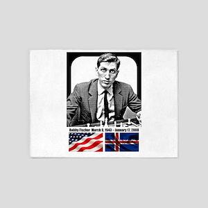 Robert Bobby Fischer American Chess 5'x7'Area Rug