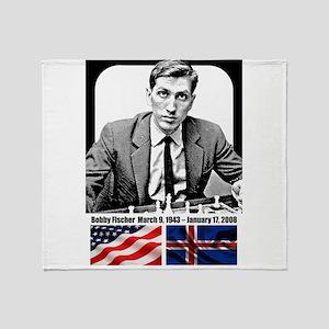 Robert Bobby Fischer American Chess Throw Blanket
