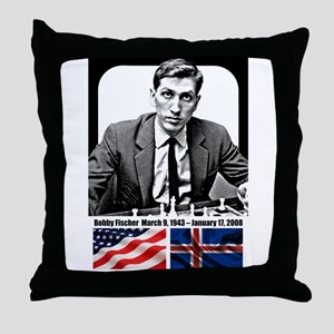Robert Bobby Fischer American Chess g Throw Pillow
