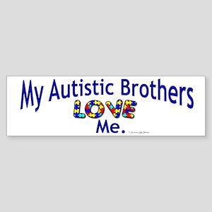 My Autistic Nephews Love Me Bumper Sticker