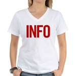 Info (red) Women's V-Neck T-Shirt