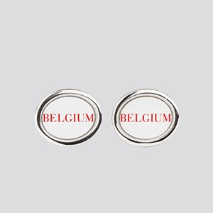 Belgium-Bau red 400 Oval Cufflinks