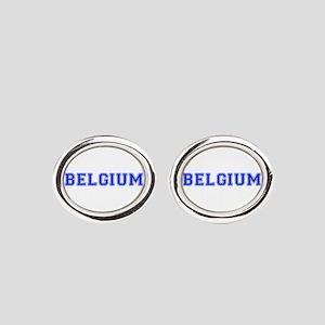 Belgium-Var blue 400 Oval Cufflinks